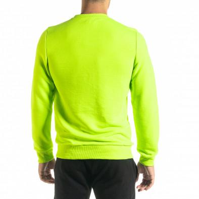 Basic мъжка памучна блуза неоново зелено tr020920-44 3