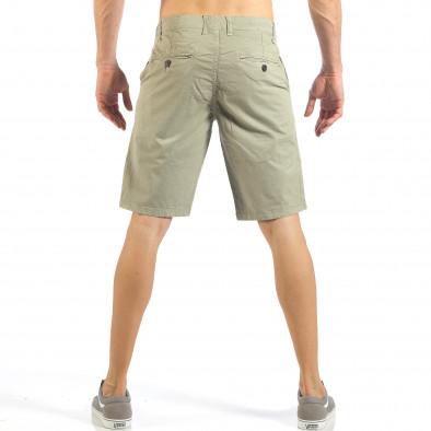 Мъжки бежови къси панталони с италиански джобове it260318-134 3
