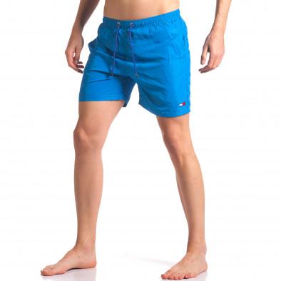 Мъжки сини бански с малка емблема it250416-53 2