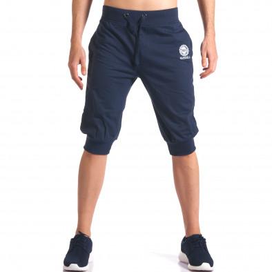 Мъжки сини къси потури със странични джобове it250416-12 2