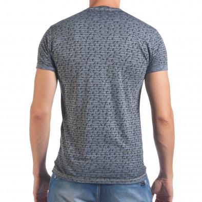 Мъжка синя тениска с малки лястовички il060616-43 3