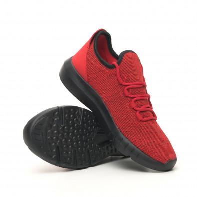 Леки мъжки маратонки червен меланж it041119-1 4