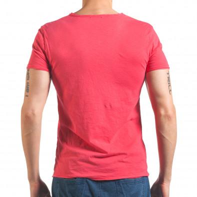 Мъжка розова тениска изчистен модел it260416-48 3