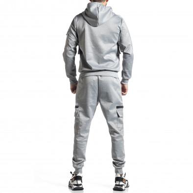 Мъжки сив спортен комплект 7джоба it010221-56 6