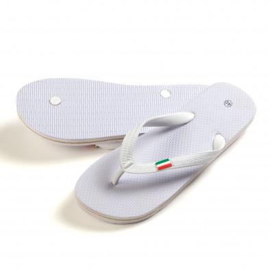 Мъжки бели джапанки с Италианското знаме it150616-8 3