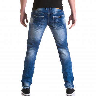 Мъжки дънки с големи скъсвания и пръски боя it031215-6 3
