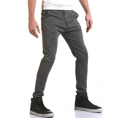 Мъжки светло сив панталон с италиански джобове it090216-28 4
