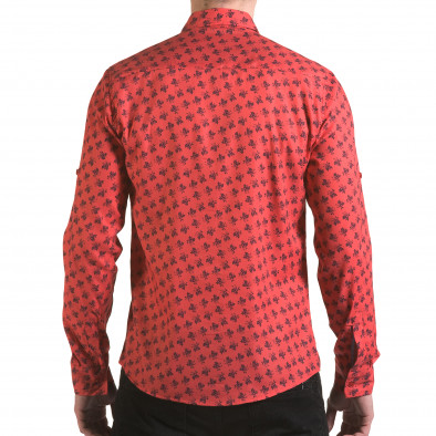 Мъжка розова риза с флорален принт il170216-127 3
