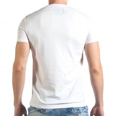 Бяла тениска с щампован голям надпис il140416-45 3