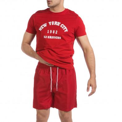 Мъжка червена тениска New York City it040621-8 4