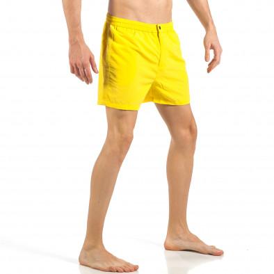 Мъжки жълт бански с цип и копче it260318-203 3