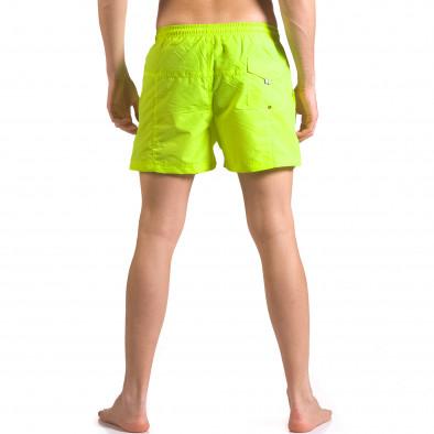 Ярко зелени мъжки бански шорти с удобни джобове ca050416-18 3