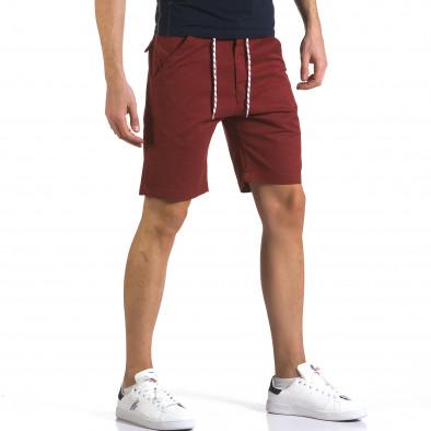 Мъжки червени къси панталони с връзки it110316-38 4
