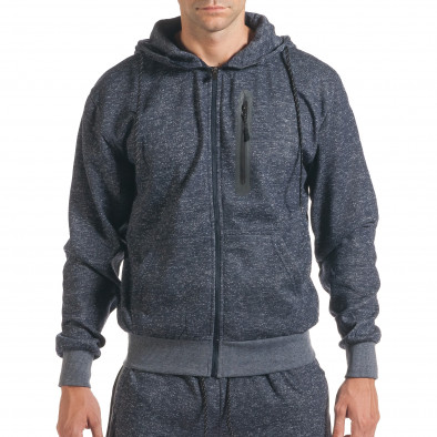 Мъжки син спортен комплект с ципове it160916-59 4