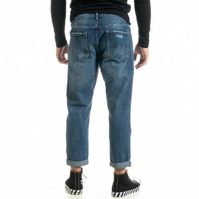 Loose fit Destroyed мъжки сини дънки it020920-14 4