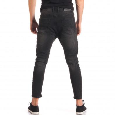 Мъжки тъмно сиви дънки със смъкнато дъно it150816-31 3
