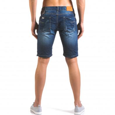 Мъжки тъмно сини къси дънки с малки скъсвания it160316-13 3