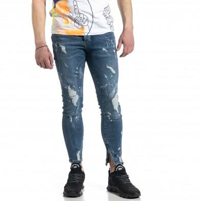 Bleach сини дънки с ципове на крачолите tr270221-5 2