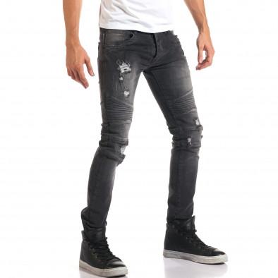 Мъжки сиви дънки с хоризонтални шевове it160916-16 4
