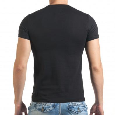 Черна тениска с голяма щампа на Bob Marley il140416-29 3