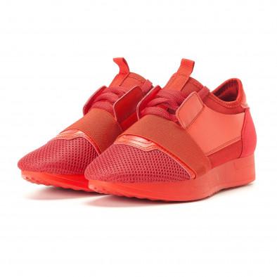 Дамски червени маратонки олекотен модел it200917-51 3
