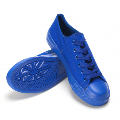 Мъжки сини кецове с гумена част отпред it090616-28 4