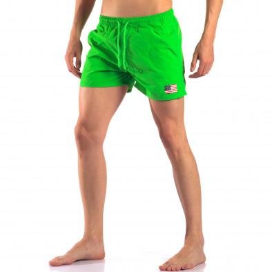 Мъжки зелени бански с Американското знаме it150616-28 4