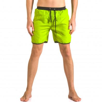 Мъжки неоново зелени бански тип шорти с бандаж ca050416-29 2