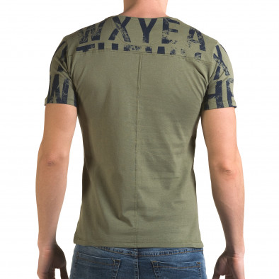 Мъжка зелена тениска Wxyea Thewh il120216-33 3