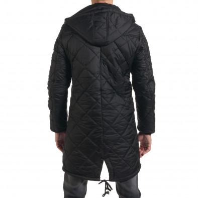 Мъжко дълго зимно яке в черно с качулка it190616-9 3