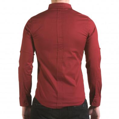 Мъжка червена риза с цип il170216-93 3