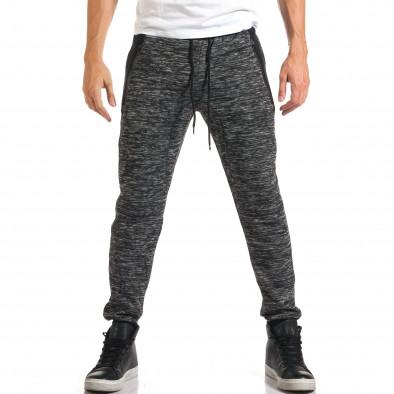 Мъжки тъмно сиви потури с ципове на джобовете it160916-46 2