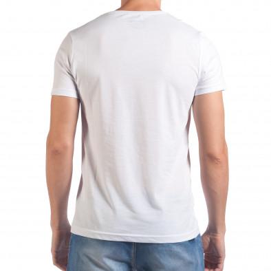 Мъжка бяла тениска с надпис No Limit отпред il060616-66 3