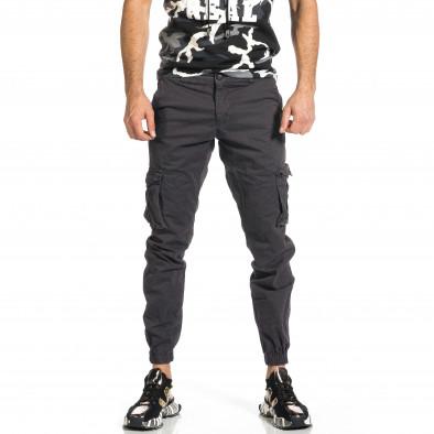 Мъжки сив карго панталон Jogger & Big Size tr270421-10 2