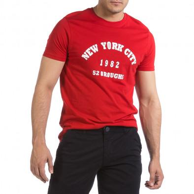 Мъжка червена тениска New York City it040621-8 2