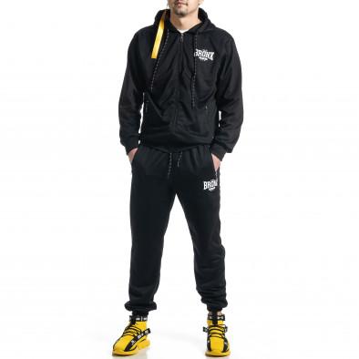 Мъжки черен спортен комплект Big Size it270221-54 2