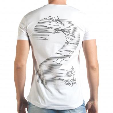 Мъжка бяла тениска с голям номер 2 на гърба Eksi 4