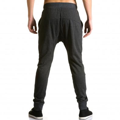 Мъжки черни потури с ципове до джобовете ca190116-19 3