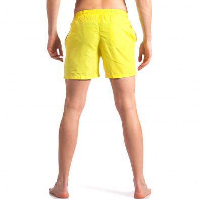 Жълти мъжки бански с лого Graceful 4