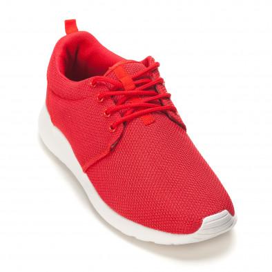 Мъжки червени летни маратонки it090616-24 3