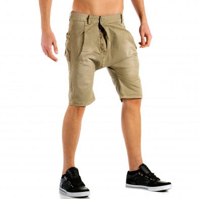 Мъжки бежови къси панталони тип потури ca300315-30 4
