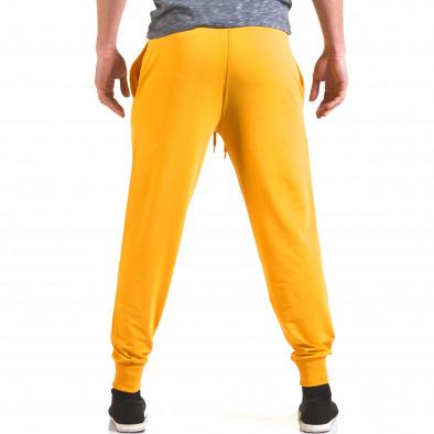 Мъжко жълто долнище с лого на единия крачол il170216-133 3