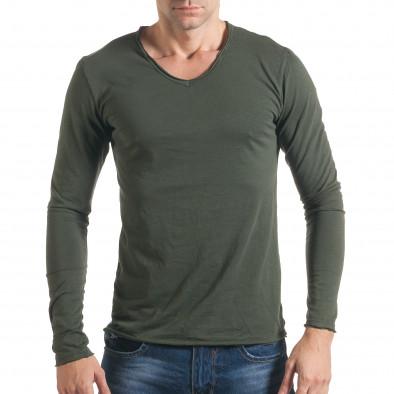 383ebe7913f Мъжка зелена блуза с дълъг ръкав it021216-2 | Fashionmix.bg