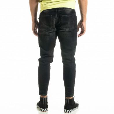 Мъжки черни дънки Cropped Carrot tr020920-12 4