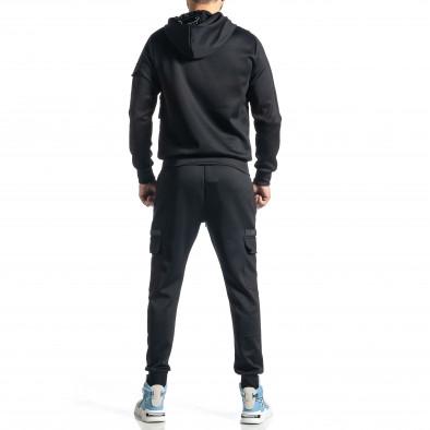 Мъжки черен спортен комплект 7джоба it010221-55 6