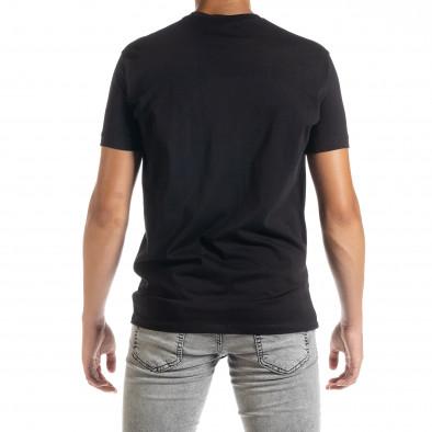 Черна мъжка тениска с принт tr010720-32 3