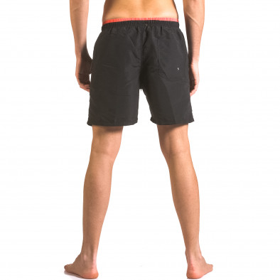 Мъжки черни бански шорти с връзки и бандаж ca050416-23 3