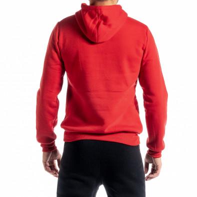 Мъжки червен суичър тип анорак Brooklyn it300920-36 3