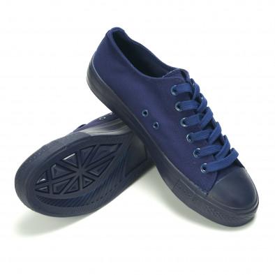 Мъжки сини кецове с връзки it190516-6 5