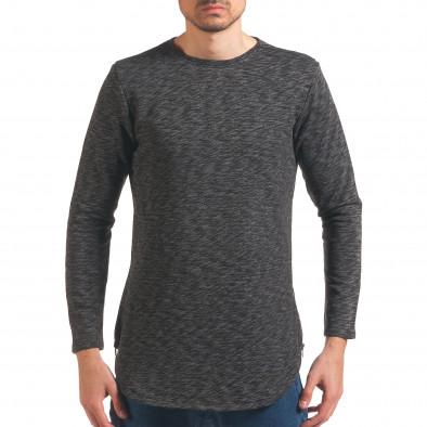 Мъжка тъмно сива блуза удължена с ципове Uniplay 4